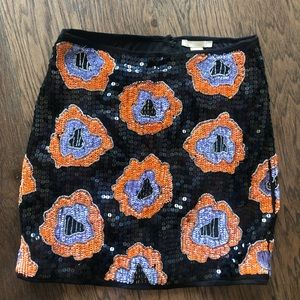 H&M Sequined Flower Mini Skirt